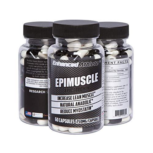 Enhanced Athlete Epimuscle - Natural Anabolic, Increase Lean Mass, Reduce Myostatin, 500mg Pure Epicatechin