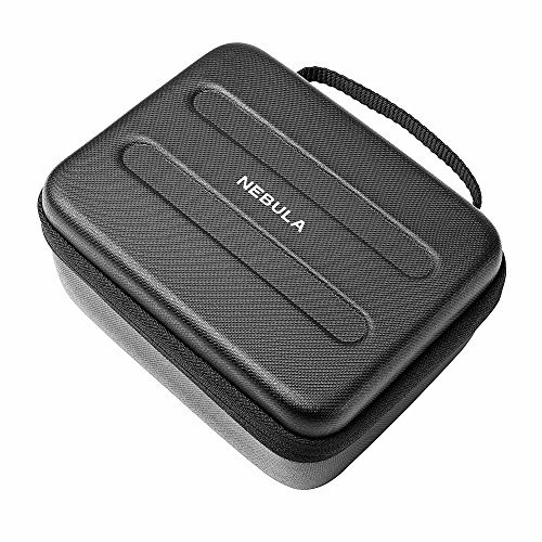 Nebula Capsule Official Travel Case for Nebula Capsule Pocket Projector, Polyurethane Leather, Soft Ethylene-Vinyl Acetate Material, and Splash-Resistance Premium Protection Projector Carry Case from Anker
