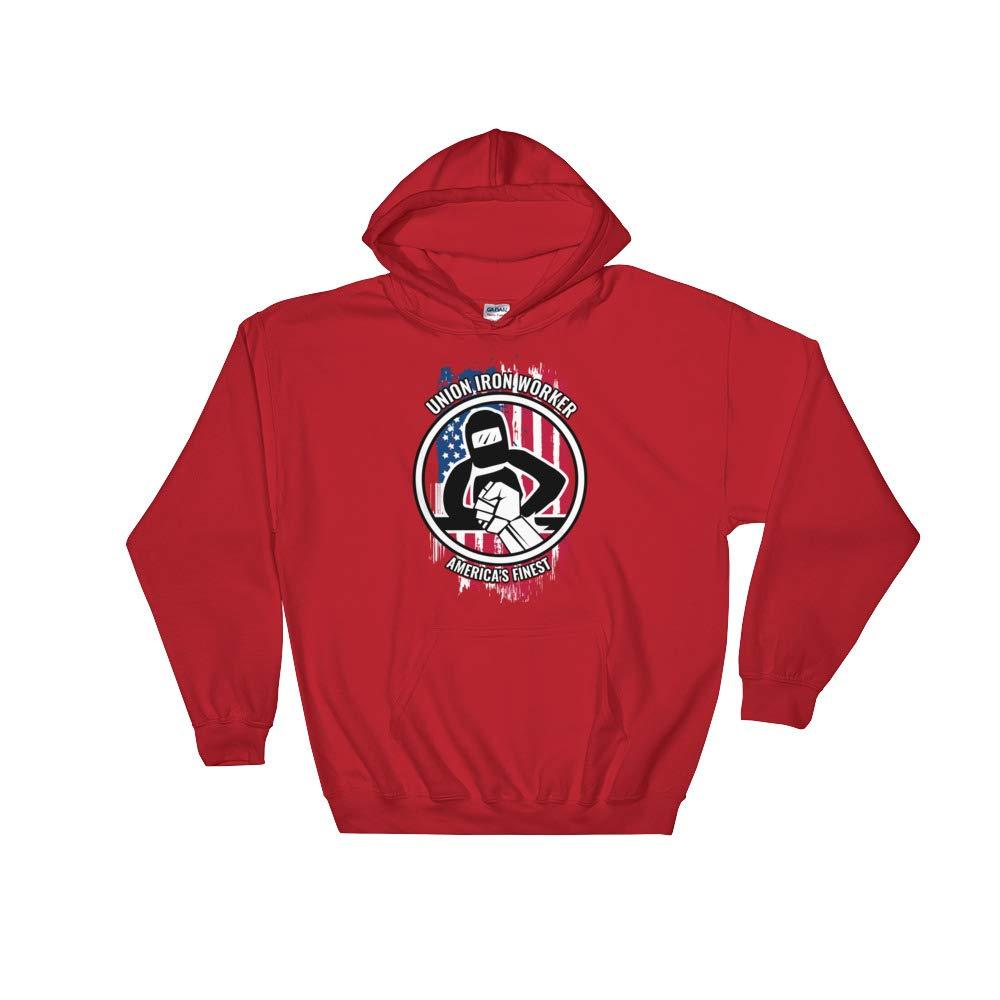 Proud American Skilled Labor Unisex Hooded Sweatshirt Amazingly Good Products Union Iron Worker Gift