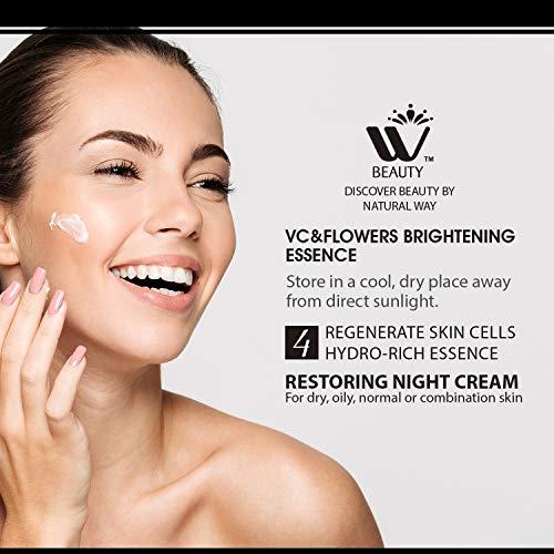 519ljuU50VL - WBM Restoring Night Cream For Face   Anti-Aging Retinol Cream Moisturizer   Skin Renewing Face Cream With Hydro-Rich Essence   1.7 Oz