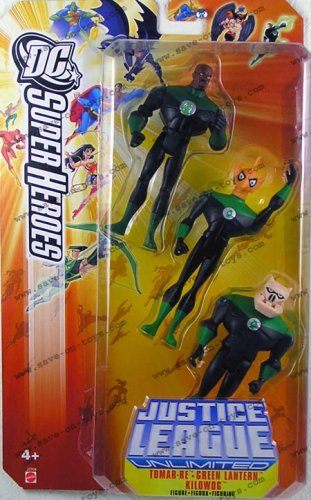 JUSTICE LEAGUE UNLIMITED DC SUPER HEROES TOMAR/GREEN LANTERN/KILLOWOG -