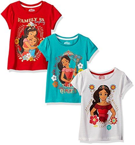 Disney Girls Little Girls 3 Pack Elena of Avalor T-Shirts