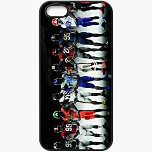 Personalized iPhone 5 5S Cell phone Case/Cover Skin American Football 32466 Black by lolosakes