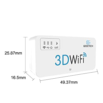 Geeetech Módulo WiFi 3D para impresora 3D, fácil de usar ...