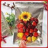 BeesClover 100pcs/lot 22cm32cm160mic Half Clear + VMPET Tea Packaging Bag Food Bags Seal Bag Favor Show