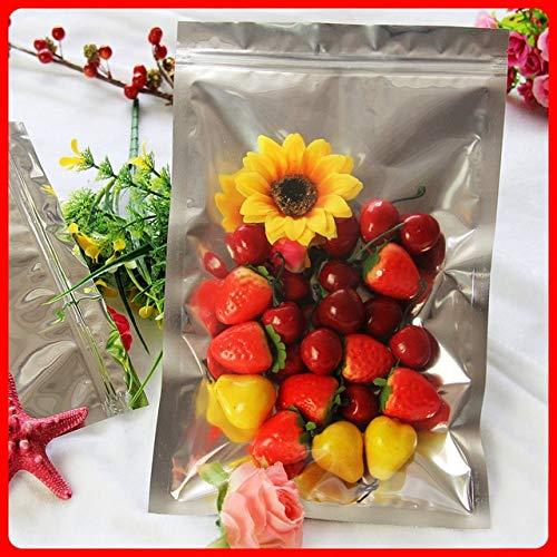 BeesClover 100pcs/lot 20cm30cm160mic Half Clear + VMPET Zip Lock Bag Heat Sealer Bags Packaging Plastic Bag Show