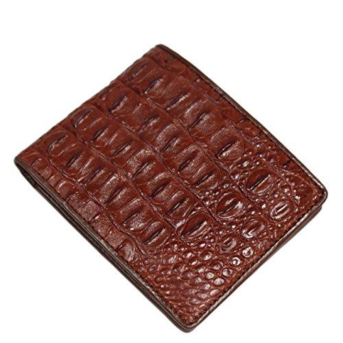 Genuine Crocodile Alligator Skin Leather Man Bifold Wallet
