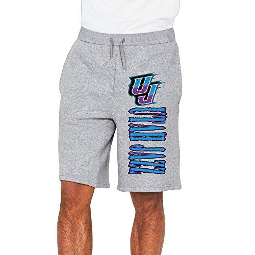 Men's Utah Jazz Logo Cotton Short Sweat Pants Ash US Size 3X
