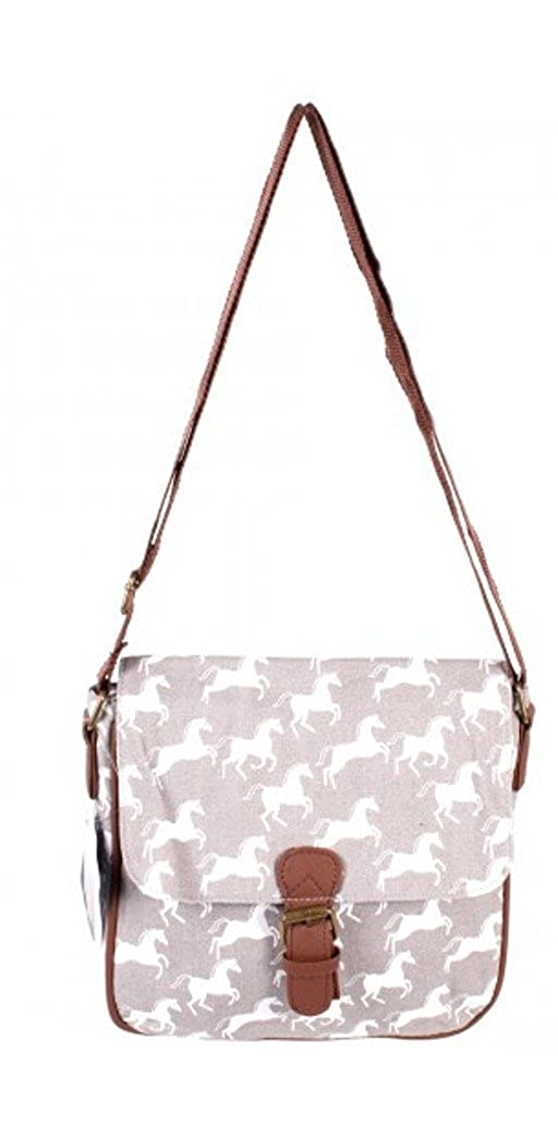 eabda5632 Ladies Horse / Pony Design Cross-Body / Shoulder Bag Handbag (GREY):  Amazon.co.uk: Clothing