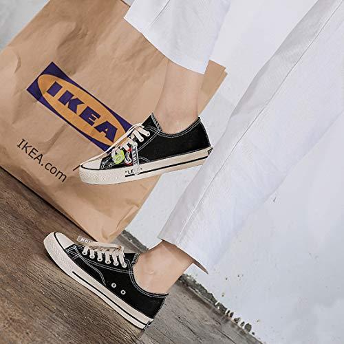 E Scarpe Vintage Vulcanizzata sneakers Tacco Da Donna Alto Collo Di Con Col Alto Tela Resistente Unisex All'usura 4XzrXw7xn