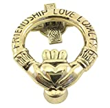 Brass Claddagh Door Knocker Friendship Love Loyalty by Liffey Artefects
