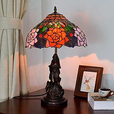 Lámparas de escritorio YWXLight Vintage Rose Lámpara de mesa de ...
