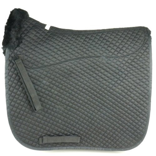 Square Sheepskin Dressage Pad Black Dsf-z/bk-bk