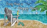 Toland Home Garden Happy Hour Beach 18 x 40 Inch Decorative Tropical Floor Mat Cocktail Doormat