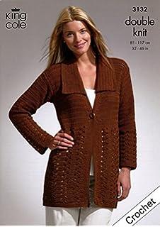 7513881a4 Sirdar Cotton DK Ladies Jacket Crochet Pattern 7071  Amazon.co.uk ...