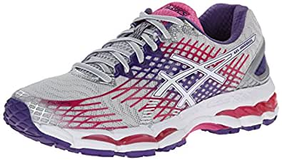 ASICS Women's Gel-Nimbus 17 Running Shoe,Lightning/White/Hot Pink,5 D US