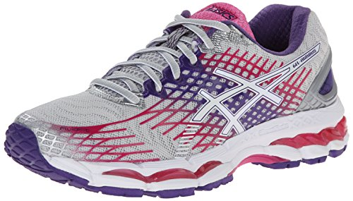 ASICS Women's Gel-Nimbus 17 Running Shoe,Lightning/White/Hot Pink,6 M US