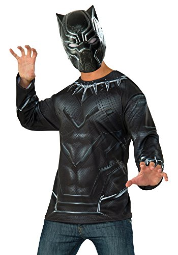 Captain America: Civil War Black Panther Costume Top and Mask, Multi, One Size -