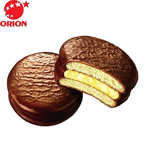 (Orion Choco Pie Banana Flavor, Sweet and Soft Banana Puree, Marshmallow Cupcake Dessert 0g TRANSFAT, 12 Individual Packs)