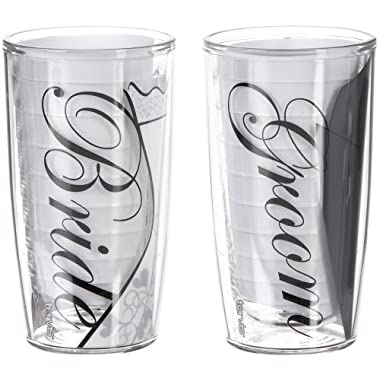 Tervis 16 oz. 2−pc. Bride & Groom Tumbler Set