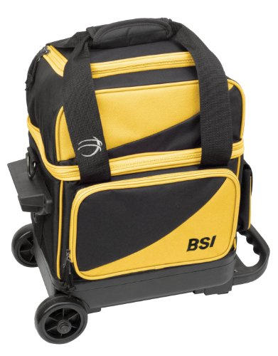 BSI Single Ball Roller Bag, Black/Yellow by BSI