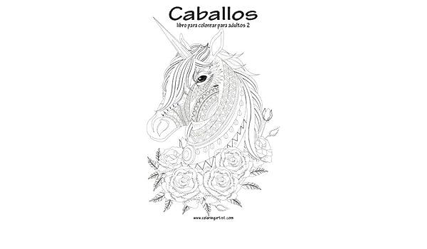Amazon.com: Caballos libro para colorear para adultos 2 (Volume 2 ...