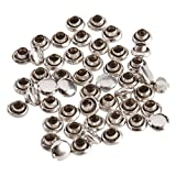 50 Sets Round Rivets Rapid Studs 4mm Silver