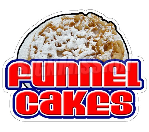MightySkins FUNNEL CAKES Concession Decal sign cake trail...
