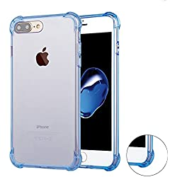 iphone 7 Plus Case, Matone Apple iphone 7 Plus Crystal Clear Shock Absorption Technology Bumper Soft TPU Cover Case for iphone 7 Plus 5.5 Inch (2016) - (Clear blue)