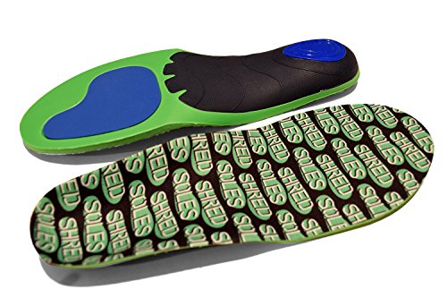 Shred Soles Performance Skateboarding Insoles (Large Men 9.5-11 Women 10.5-12)