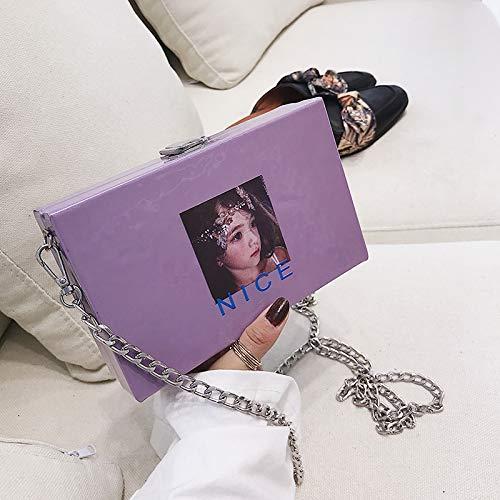 Bag bandoulière transversale à Lady Messenger Bag pourpre nbsp;Crossbody WSLMHH Sacs Sacs Girl Section Chain 6qFawY