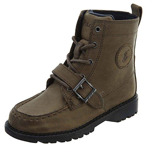 Polo By Ralph Lauren Ranger HI II Boot (Little Kid/Big Kid),Grey Leather,2.5 M US Little - Mens Ralph For Lauren Cheap