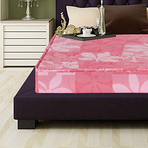 Coirfit Daydream 4.5 inch Single Size Natural Rubberised Coir Mattress  Pink, 78X30x4.5