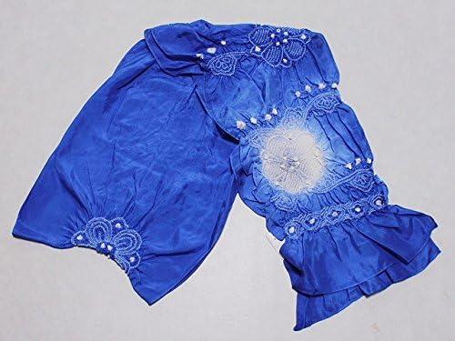正絹兵児帯 青系色の帯 絹のへこ帯 浴衣用 七五三用 ちょっぴり理由あり D0608-03