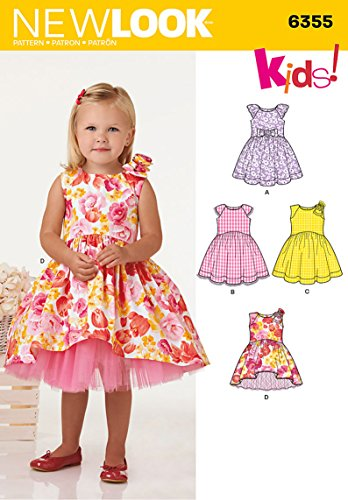 New Look Patterns UN6355A Toddlers' Dress with Length Variations, A (1/2-1-2-3-4)