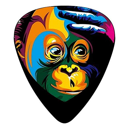 Celluloid Colorful Monkeys Guitar Picks 12 Packs Unique Music Gifts ()
