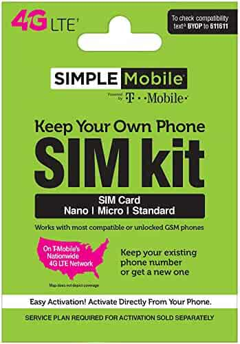 Simple Mobile Keep Your Own Phone 3-in-1 Prepaid SIM Kit ($25 Gift Card Upon Activation)