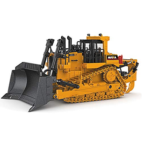 fisca 1/50 Diecast Bulldozer Model Metal Construction Vehicle - Bulldozer Model