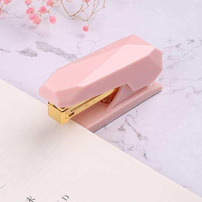 Amazon.com: Grapadora de muelles de color rosa de alta ...