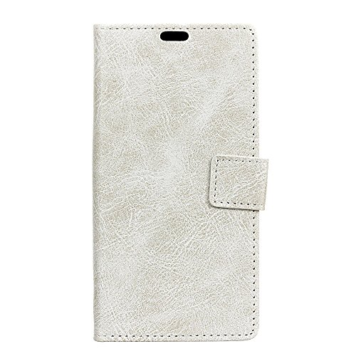 Motorola Moto G5S Case, Happon Ultra Thin Protective Pu Leather Book Wallet Case with Card Slot, Stand Function, Shockproof Soft Cover for Motorola Moto G5S (White) ()