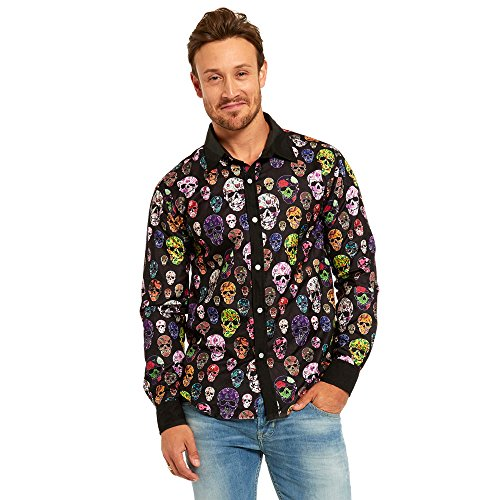 Money Costumes For Halloween Send Message (Litetao Halloween Casual Stylish Slim Long Sleeve Casual Formal Blouse Shirts For Men (L, Multicolor2))