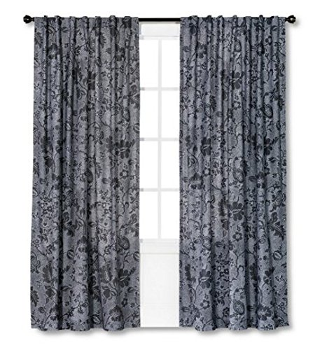 Threshold Dot Jacobean Gray Print Curtain Window Panel (54