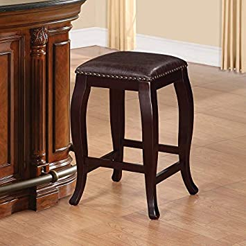 Linon San Francisco Square Top Counter Stool, Brown