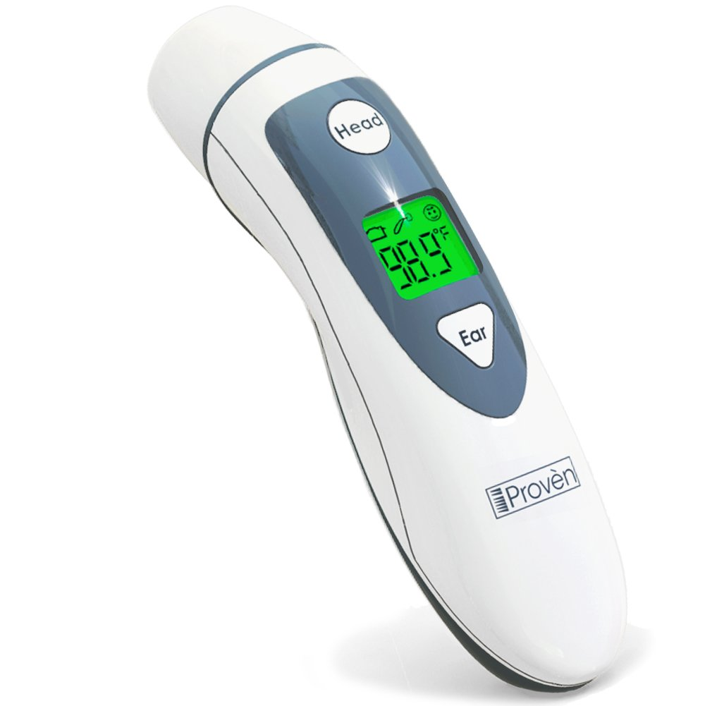Medical Forehead and Ear Thermometer - the Authentic FDA Approved Professional Thermometer iProven DMT-489 - Unmatched Performance with Revolutionized Technology