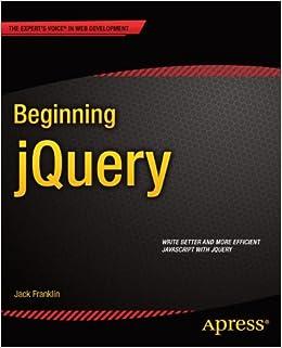 Book Beginning jQuery (Beginning Apress)