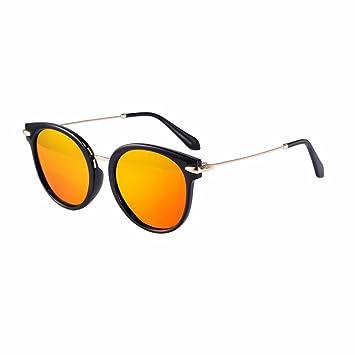 TYJshop Gafas De Sol Hombres Y Mujeres Gafas Polarizadas Elegantes Retro, Naranja Rojo: Amazon.es: Deportes y aire libre