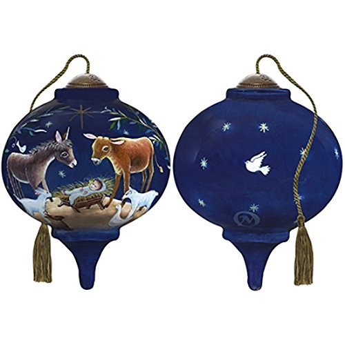 Ne'Qwa Art Hand Painted Blown Glass Let All Creation Sing Ornament, Multicolor ()