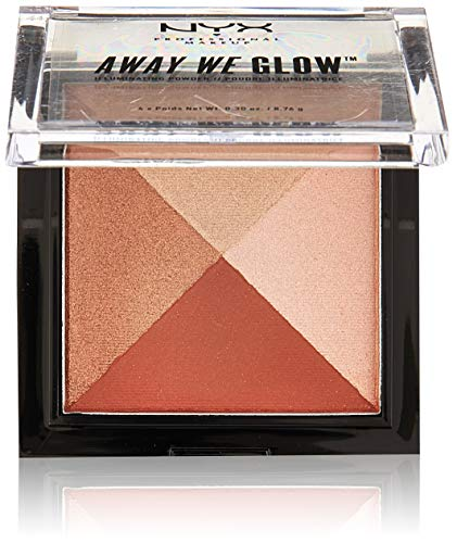 NYX PROFESSIONAL MAKEUP Away We Glow Illuminating Powder, Brick Road, 1.2 Ounce