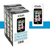 iCloth Lens and Screen Cleaner | 3 x 30 pack bundle (each wipe 9cm x 13cm - 1 ml fill) For use on Laptop and Desktop Screens, Touchscreen Monitors, Automotive Displays, Aviation Displays and more