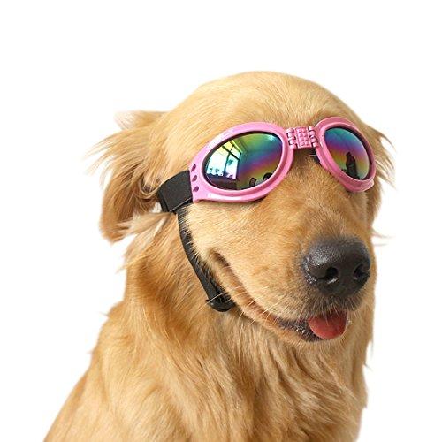 Ennc Pet Goggles UV Protective Foldable Dog Sunglasses Lenses Eye Wear Protection with Adjustable - Doggie Sunglasses